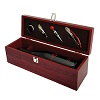 Cherry Wood 1 Bottle Accessory Gift Set