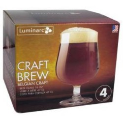 Luminarc Craft Brew Belgian Beer Glasses 4 pk